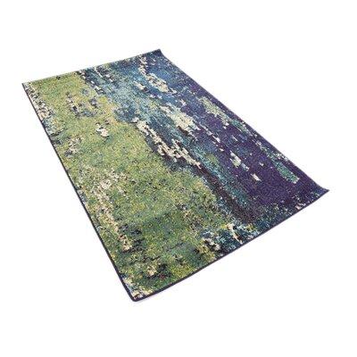Tavistock Green/Navy Blue Area Rug Rug Size: Rectangle 33 x 53