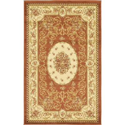 Oskar Brick Red Area Rug Rug Size: 33 x 53