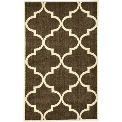 Moore Brown Area Rug Rug Size: 33 x 53