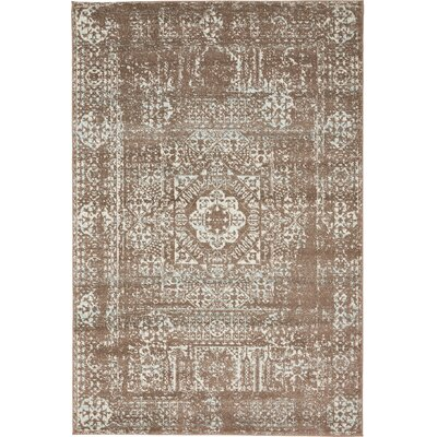 Nella Light Brown Area Rug Rug Size: 4 x 6