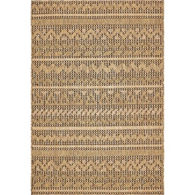 Lukas Light Brown Outdoor Area Rug Rug Size: 4 x 6