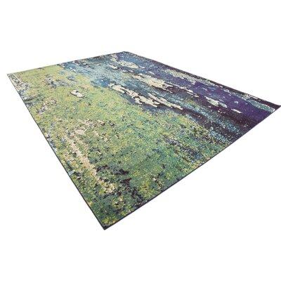 Tavistock Green/Navy Blue Area Rug Rug Size: Rectangle 9 x 12