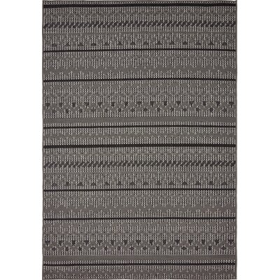 Lulu Yellow Pine Gray Outdoor Area Rug Rug Size: 6 x 9