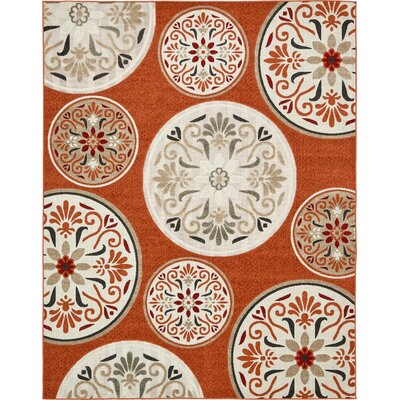 Niagara Orange/Beige Indoor/Outdoor Area Rug Rug Size: 8 x 10