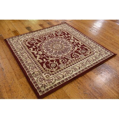 Oskar Red Area Rug Rug Size: Square 4