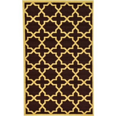 Moore Brown Area Rug Rug Size: 5 x 8