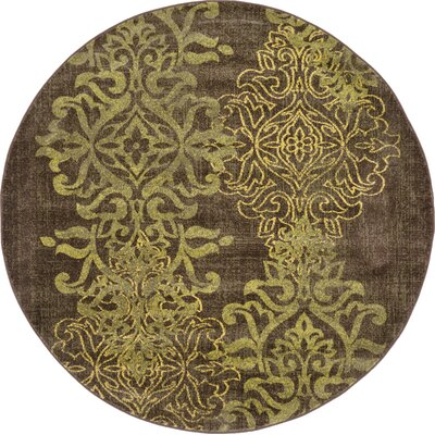 Rodney Brown Area Rug Size: Round 6