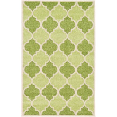 Moore Green Area Rug Rug Size: 33 x 53