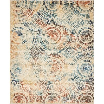 Jani Beige Abstract Area Rug Rug Size: Rectangle 8 x 10