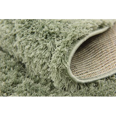 Catherine Machine Woven Green Area Rug