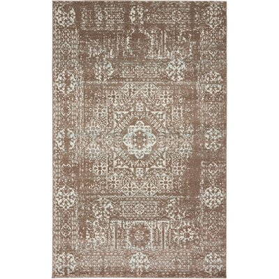 Nella Light Brown Area Rug Rug Size: 5 x 8