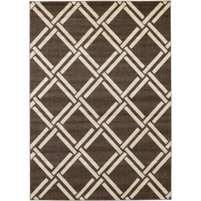 Seagate Brown Area Rug Rug Size: Rectangle 7 x 10