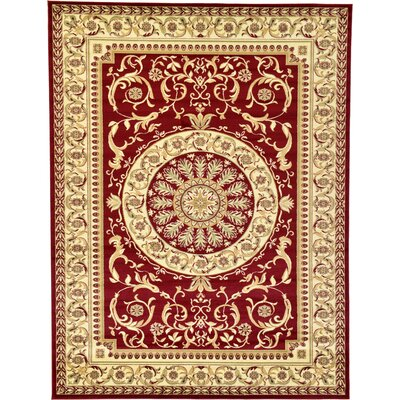 Oskar Red Area Rug Rug Size: Rectangle 9 x 12