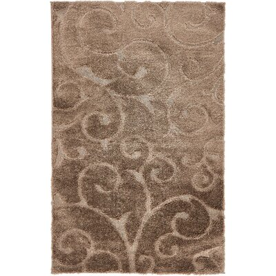 Billings Floral Brown Area Rug Rug Size: 5 x 8
