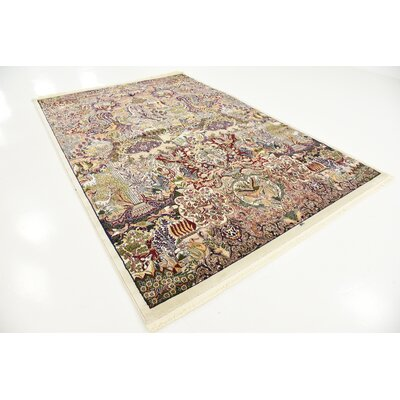 Jeanette Ivory Oriental Area Rug Rug Size: 67 x 910