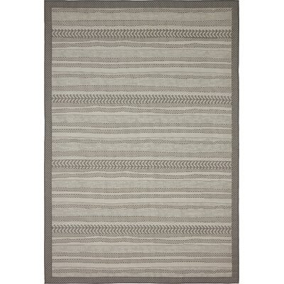 Antoine Gray Outdoor Area Rug Rug Size: 6 x 9