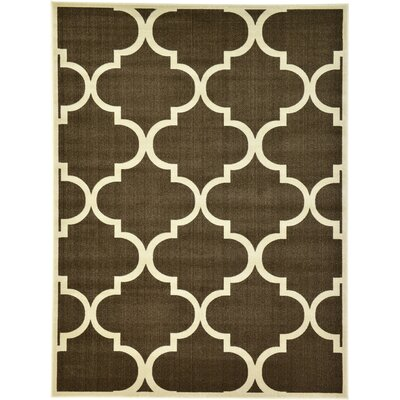 Moore Brown Area Rug Rug Size: Rectangle 9 x 12