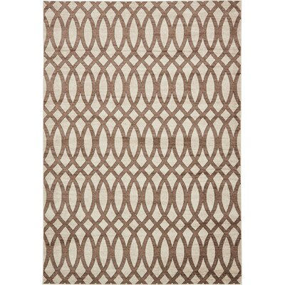 Greene Brown/Beige Area Rug Rug Size: Rectangle 4 x 6
