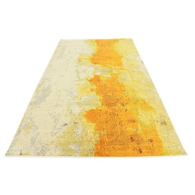 Tavistock Yellow Area Rug Rug Size: Rectangle 106 x 165