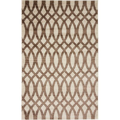 Greene Brown/Beige Area Rug Rug Size: 5 x 8