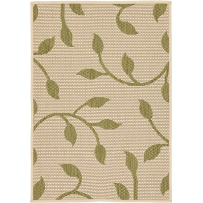Marissa Beige/Green Outdoor Area Rug Rug Size: Rectangle 4 x 6