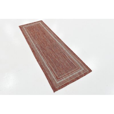 Erma Rust Red Outdoor Area Rug Rug Size: Runner 2 x 6