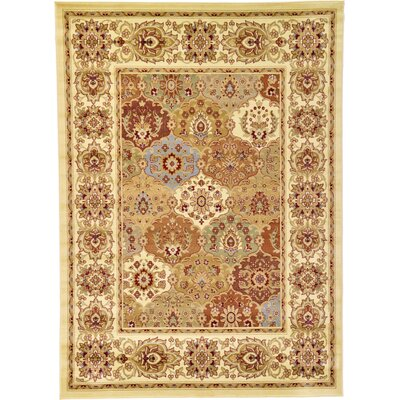Janiyah Cream Area Rug Rug Size: Rectangle 7 x 10