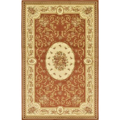 Oskar Brick Red Area Rug Rug Size: Square 4