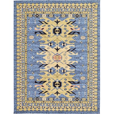 Valley Light Blue Area Rug Rug Size: 9 x 12