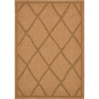 Acres Light Brown Outdoor Area Rug Rug Size: Rectangle 7 x 10