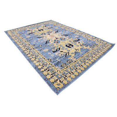 Valley Light Blue Area Rug Rug Size: Rectangle 7 x 10