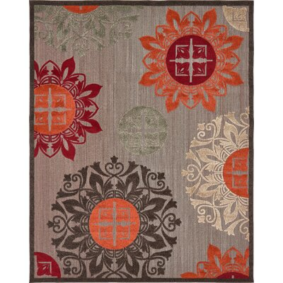 Jessica Brown Indoor/Outdoor Area Rug Rug Size: Rectangle 8 x 10