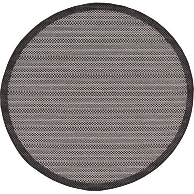 Dakota Gray Outdoor Area Rug Rug Size: Round 6