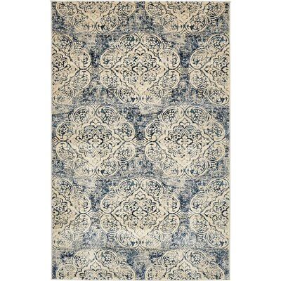 Jani Beige/Blue Abstract Area Rug Rug Size: Rectangle 5 x 8