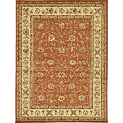 Fairmount Brick Red Area Rug Rug Size: 9 x 12