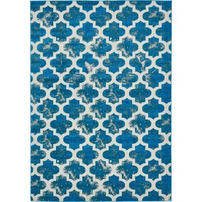 Sarno Turquoise Indoor/Outdoor Area Rug Rug Size: 5' x 8'