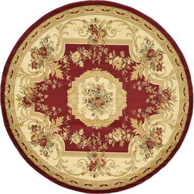 Sheffield Beige / Red Area Rug Rug Size: 7 x 10