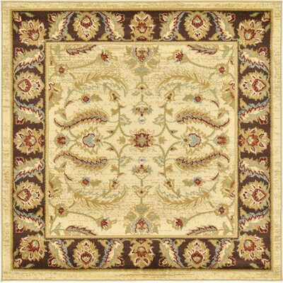 Fairmount Cream Turkey Area Rug Rug Size: Square 4