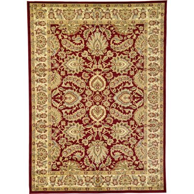 Fairmount Red Area Rug Rug Size: 7 x 10
