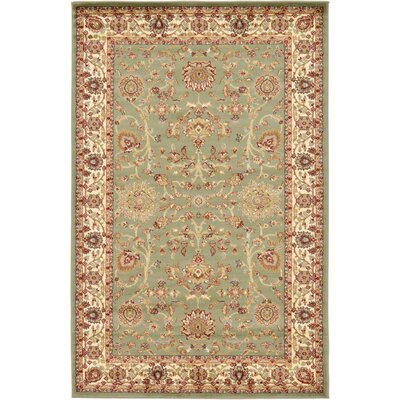 Fairmount Light Green Area Rug Rug Size: 5 x 8