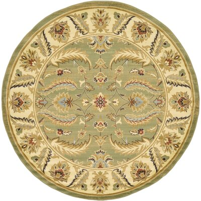 Fairmount Green Area Rug Rug Size: Round 8