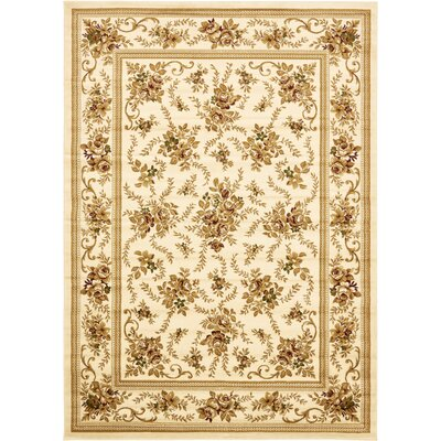 Oskar Cream Area Rug Rug Size: Rectangle 33 x 5