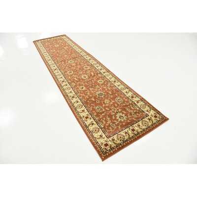 Fairmount Brick Red Oriental Area Rug Rug Size: Runner 27 x 10