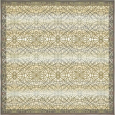 Jamie Traditional Beige Indoor/Outdoor Area Rug Rug Size: Square 6