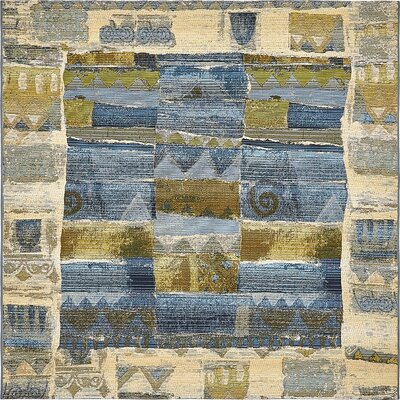 Jamie Blue Indoor/Outdoor Area Rug Rug Size: Square 6
