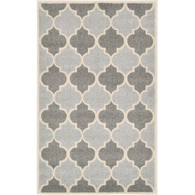 Moore Silver Area Rug Rug Size: 33 x 53