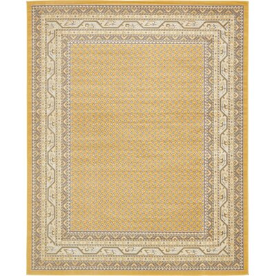 Toni Yellow Area Rug Rug Size: Rectangle 8' x 10'
