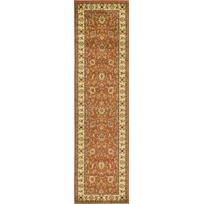 Fairmount Brick Red Oriental Area Rug Rug Size: Runner 22 x 6