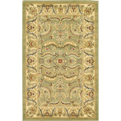Fairmount Green Area Rug Rug Size: 33 x 53