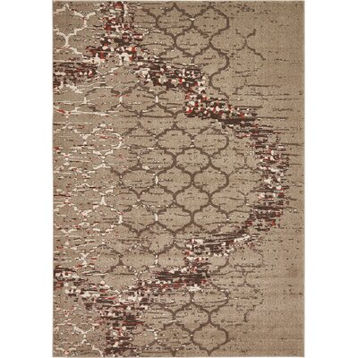 Steinbeck Dark Beige Area Rug Rug Size: Rectangle 7 x 10